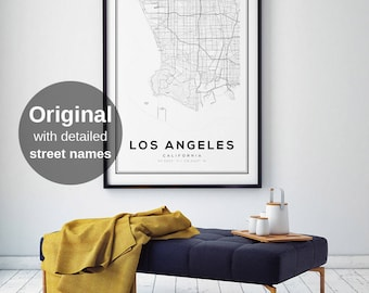Los Angeles Map Print, LA, California Map, Los Angeles Map Poster, Los Angeles, California, LA Map, City Map Print, Black and White Map
