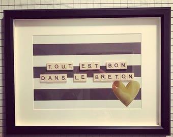 Scrabble Frame Tout Est Bon Dans Le Breton