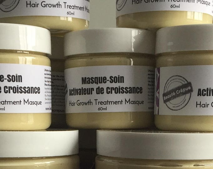 Hair Growth Treatment Masque: with Jamaican Black Castor Oil, Mustard Oil, Brewer's Yeast, MSM, Garlic, Onion & Nettle Extracts - 60ml