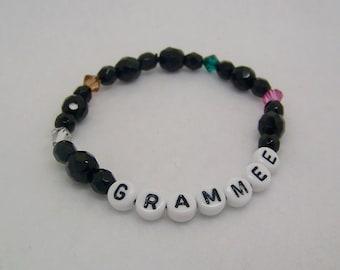 Mothers Bracelet, Personalized Bracelet, Custom Name Bracelet,Birthstone Jewelry, Grandma Bracelet,  Name and Birthstones, Mother's Day Gift