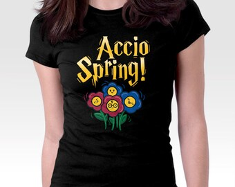 Spring shirt, magic shirt, wizard shirt, shirt for spring, flower shirt, garden shirt, flower gift, garden gift, accio shirt, spring flowers