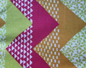Pink Lime Gold Moda Cotton - 1 Yard