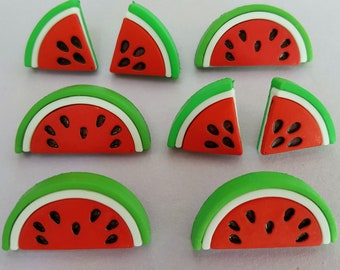 WATERMELONS - Fruit Salad Slice Summer Picnic Food Dress It Up Craft Buttons