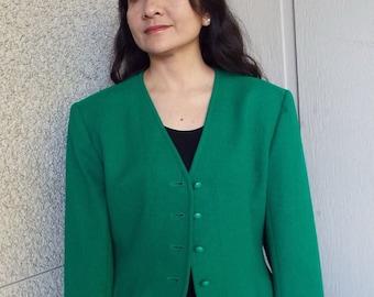 Emerald Green Pendleton Jacket - Size 10