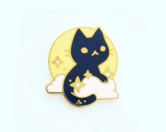 Moon Cat Enamel Pin
