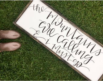 14x38 Hand Lettered Framed Saying Canvas