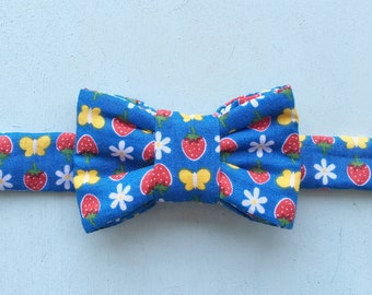 Summer Print Bow Tie for Cats