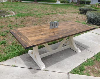 X Farmhouse Table (Local Pick up/Delivery Only!)