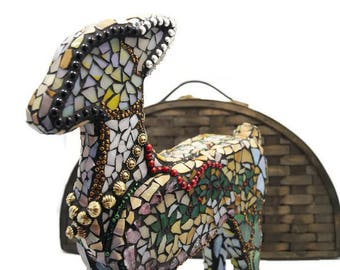 Mosaic Christmas Deer, Mosaic Christmas Reindeer, Stained Glass Reindeer, Stained Glass Deer, Christmas Decor, Deer Figurine, Holiday Decor