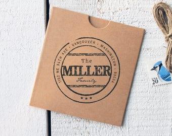 Custom Return Address Stamp - Custom Address Stamp, Rubber Stamp, Stamp Font, Wedding Gift, Gift (Vol.3 Vrs.9)