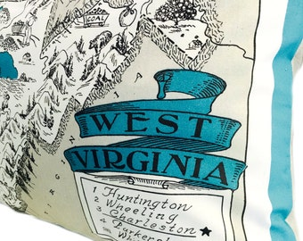 West Virginia  Pillow Cover with Insert