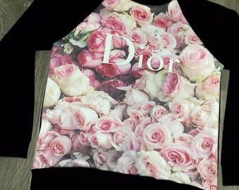 SALE!! Feminine fashion rose Dior sweatshirt
