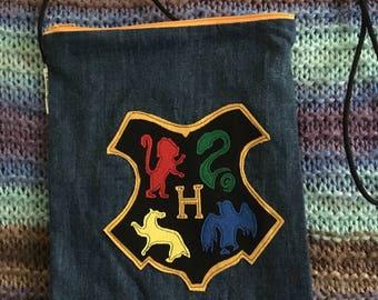 Wizard School Crest-Cross Body Zipper Pouch