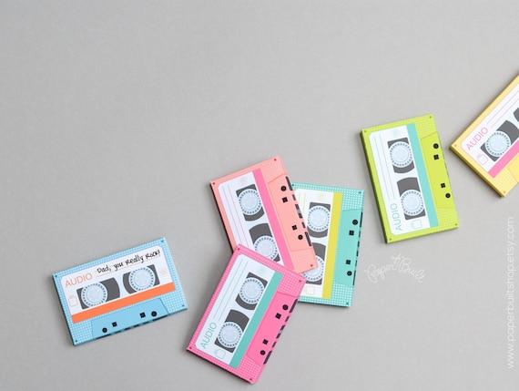 Cassette Tape Gift Card Holder 1980s Retro Cassette Tapes