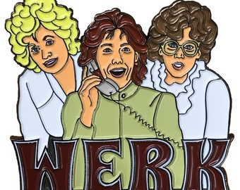 WERK 9 to 5 STICKER | Pour yourself a cup of ambition and WERK with Dolly, Jane, and Lilly.