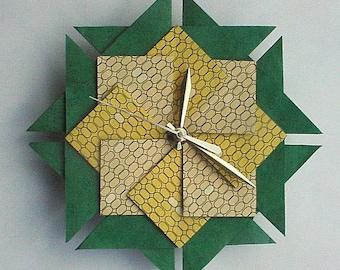 Küche Uhr, Origami-Uhr, frischen Mais-groß