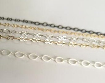 6 meters of brass chain 8+O shape-3/4mm-9906D-sterling  silver/matte silver/gold/antique bronze