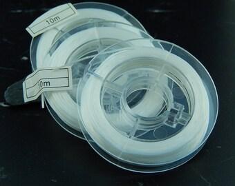 White elastic stretch 10 m roll