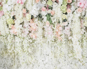 Customize Wedding Backdrop,Wedding Stage Photography Backdrop,Wedding Invitation floral wall photobooth background, photo prop XT-5848