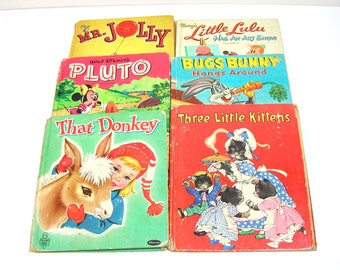 Vintage Children's Books, Little Lulu, Mr Jolly, Bugs Bunny, 1940s, 1950s, 1960s