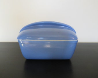 Hall Westinghouse Periwinkle Blue Refrigerator Oven Baking Dish Loaf Pan - Made in USA