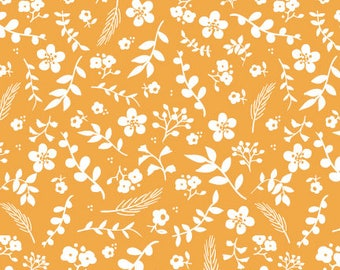 Sweet Prairie Fabric -  Floral in Yellow - fat quarter / yardage
