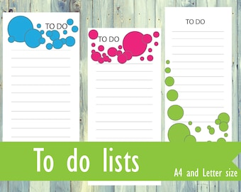 Printable To do list pages. Letter size To do. A4 size To do. Instant download printable To do list pages.