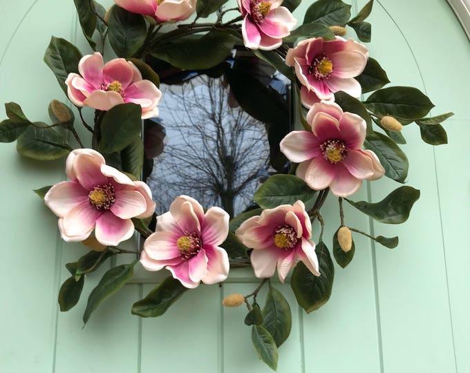 Magnolia spring wreath