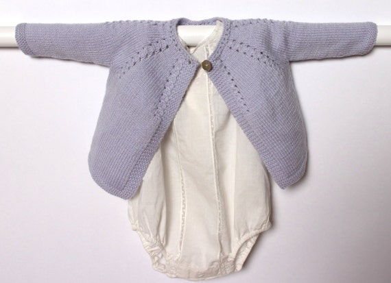 Knitting Pattern Baby Cardigan Instructions in English Instant Digital Download PDF / Sizes Newborn and 3-6 months