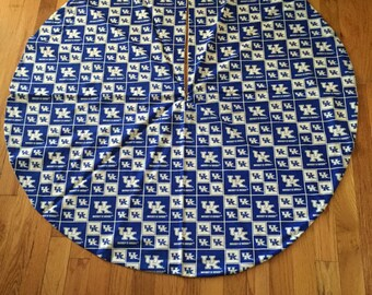Kentucky Blue and White Tree Skirt