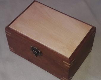 Handmade sapele wood trinket box