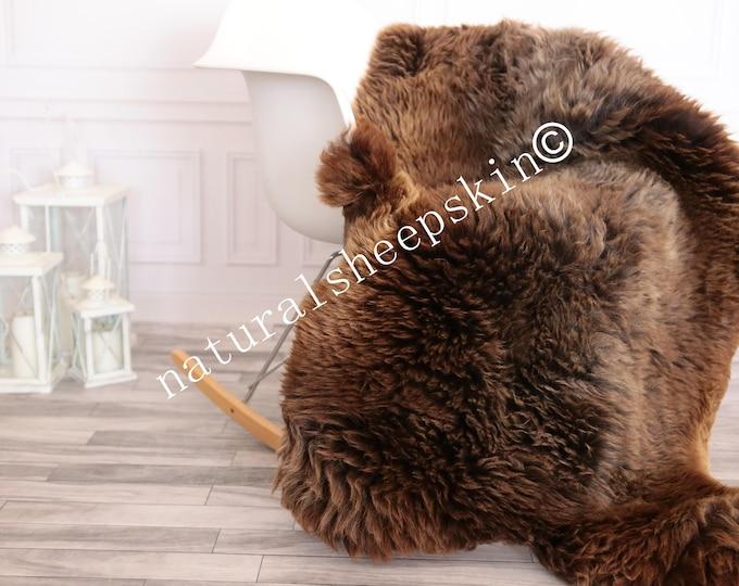 Sheepskin Rug   Real Sheepskin Rug   Shaggy Rug   Scandinavian Rug     SCANDINAVIAN DECOR   brown Sheepskin  #FEBHER13