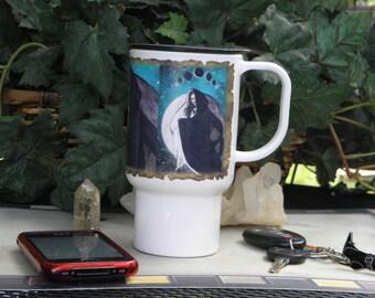Polymer Travel Mug Fantasy Moon Goddess Lunar Eclipse