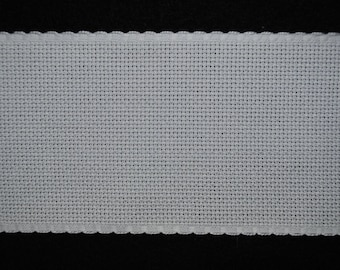 Band embroidery white aida 5.5 width 8 cm / meter