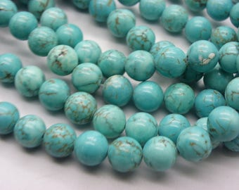 50 has 52 turquoise natural blue 8 mm