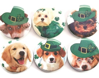 Dog Magnets, Irish Dogs, Cute Dogs, Fridge Magnets, Puppies, Cute Puppies, Dog Lover Gift, Refrigerator Magnets, St Paddys Day Gift, 6/Set