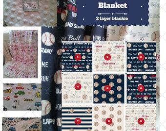 Toddler / Baby Blanket - Vintage Baseball Quotes- Navy / Cream - organic cotton,minky blanket, 24x32 Newborn, 32x50 Toddler Kids Blanket