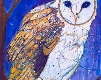 Owl Wisdom - Animal Guide Art