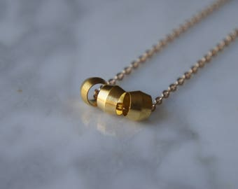 ACCESSORY - Brass Necklace - Small rings