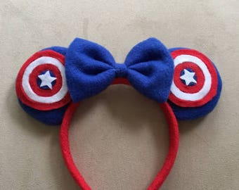 Captain America Ears - FREE SHIPPING