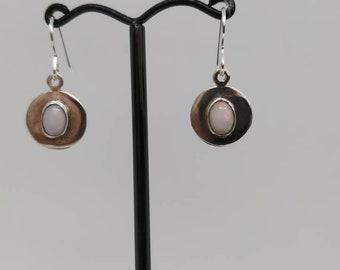 Cats eye opal earrings