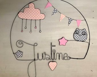 name personalized wire - child or baby room decor
