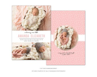 BA2 :. Birth Announcement template | welcoming our little