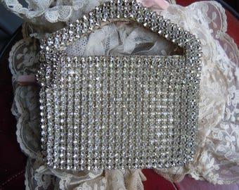 1920's Art Deco Flapper Downton Abbey Faux Diamante Studded Purse