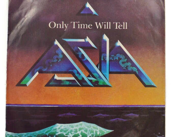 Vintage 80s Asia Only Time Will Tell Pop Rock Picture Sleeve Promo 45 RPM Single Record Vinyl