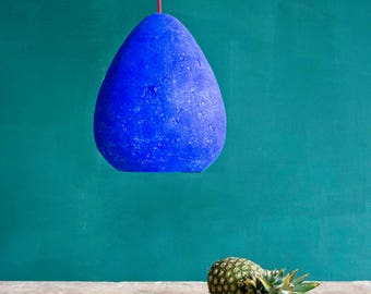 Modern Ceiling Light Ceiling Lamp Modern Pendant Light Hanging Lamp Rustic Lighting Paper Lamp Shade Paper Mache Lamp Morphe III Ultramarine