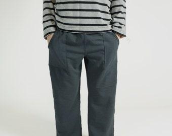 TAYLOR / / pantalon de tous les jours, enfants bambou sans couture pantalon, foncés gris, besoins spéciaux vêtements, pantalon pour spd le doux