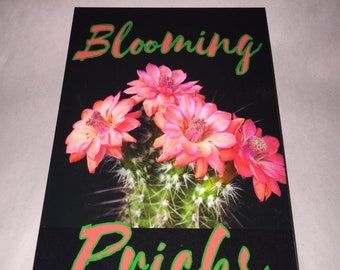 Funny BLOOMING PRICKS Neat and pretty Bathroom wall art