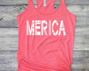 Merica Tank Top, Fourth of July, Star Spangled top, Independence Day