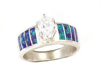 Assorted Opal Inlay Rings with CZ